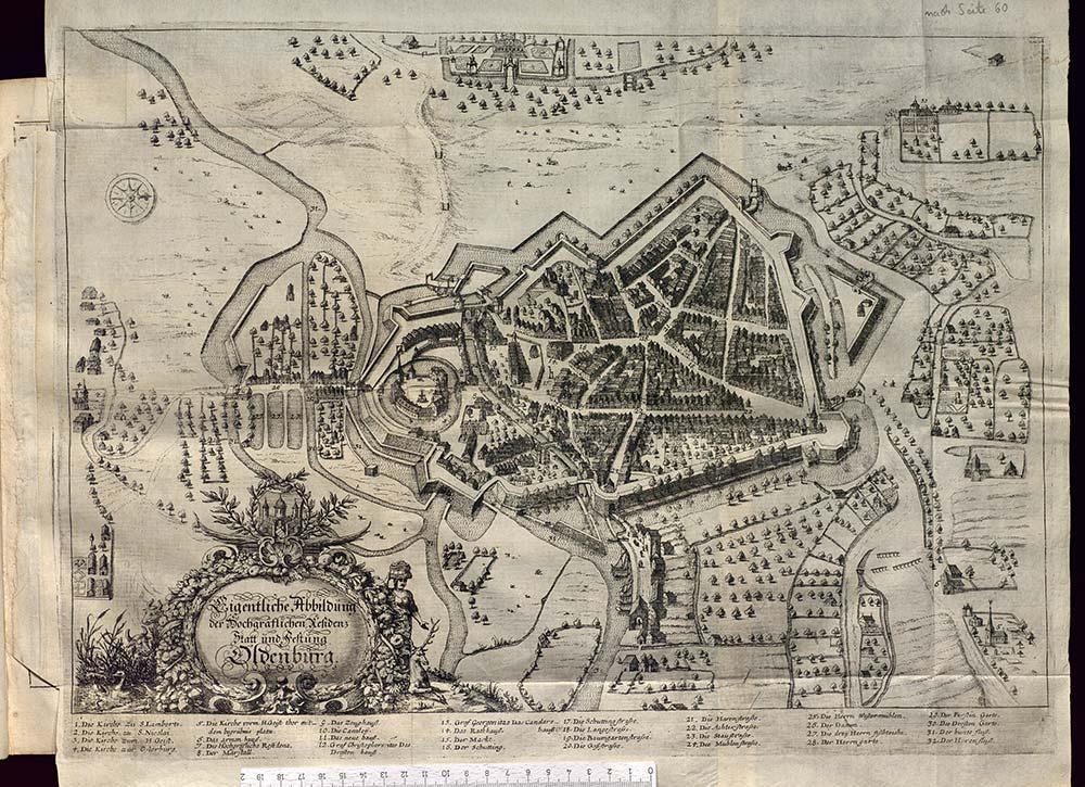 Eigentliche Abbildung der Hochgräflichen Residenz Statt und Festung Oldenburg