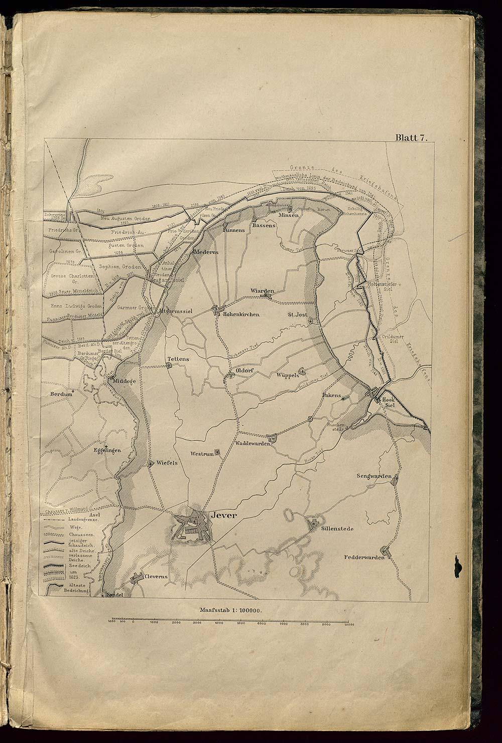 In: 18 Karten zum Jeverschen Deichband  Oskar Tenge (1832-1913)  Oldenburg : Stalling, 1884
