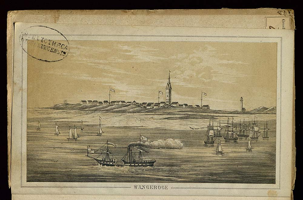 In: Die Insel und das Seebad Wangeroge : zugleich ein Rathgeber für Diejenigen welche Seebäder gebrauchen wollen Max von Eelking (1813-1873) Oldenburg : Schulze, 1853