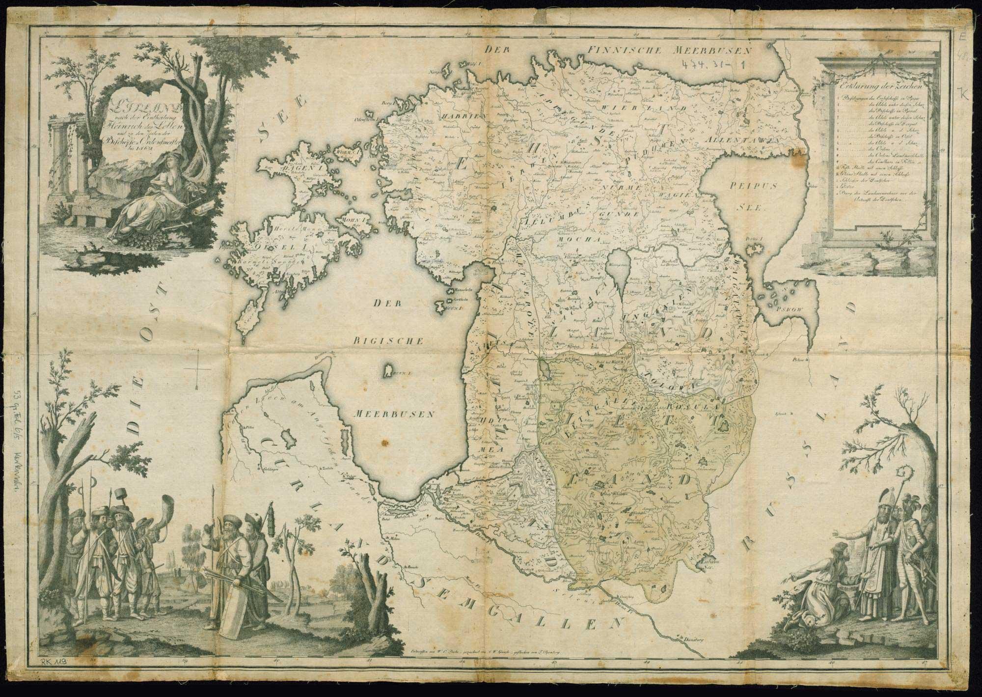 Livland nach der Eintheilung Heinrich des Letten und zu den Zeiten der Bischöffe u. Ordensmeister u. Ordensmeister bis 1562